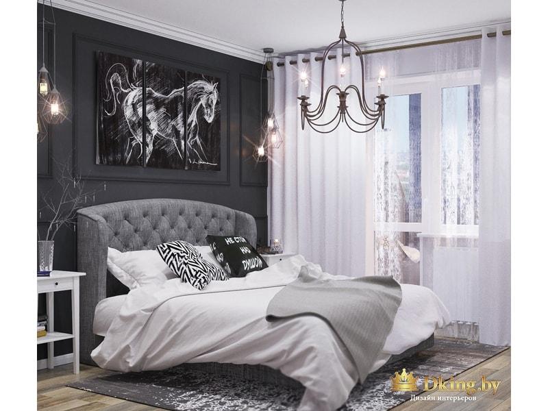 Картина Лошади над кроватью
