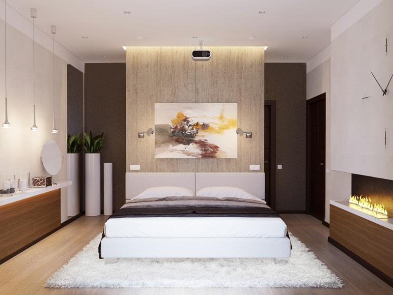 Дизайн спальни в стиле эко минимализм
