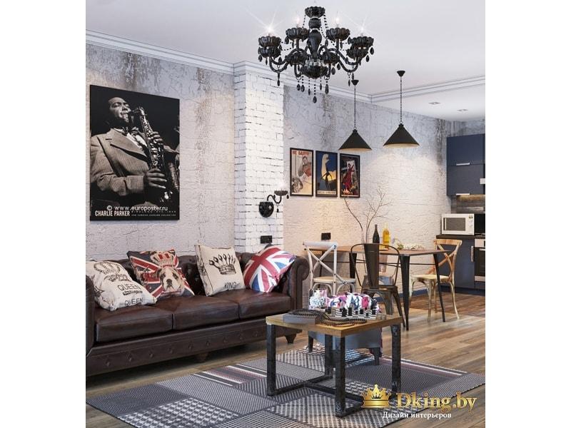 Плакат Чарли Паркера в гостиной
