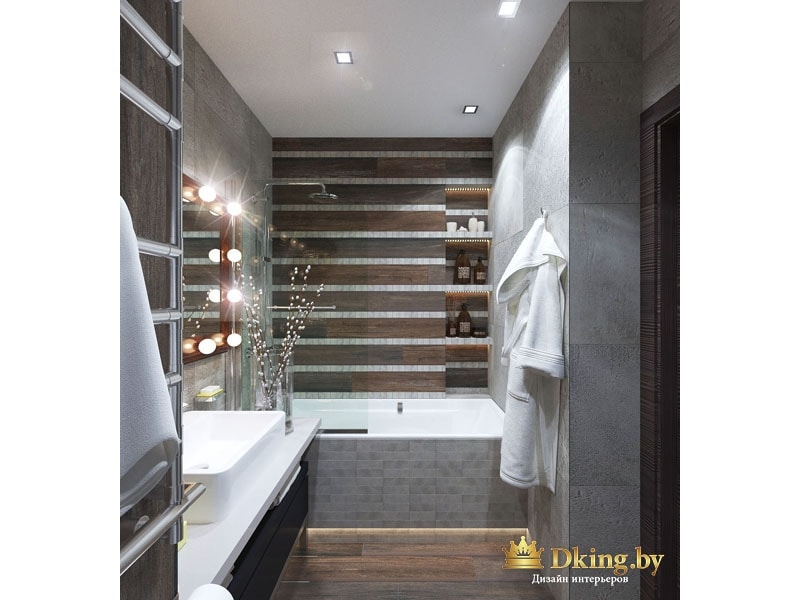 Зеркало с лампочками в ванной