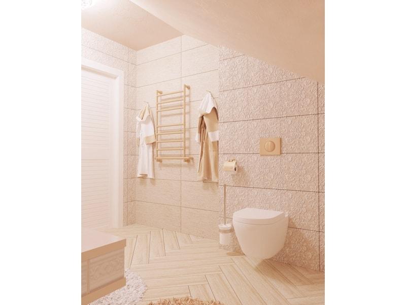 Ванная комната с дизайнерским  змеевиком