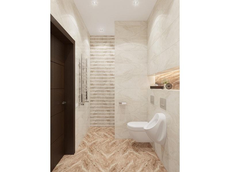 Светлая ванная под мрамор