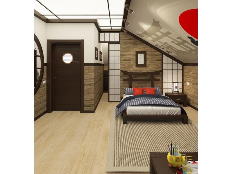 Комната в азиатском стиле