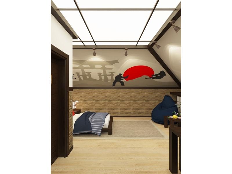 Японский интерьер в комнате