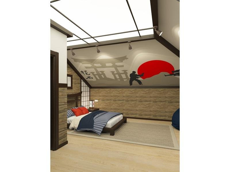 Комнат с японскими мотивами