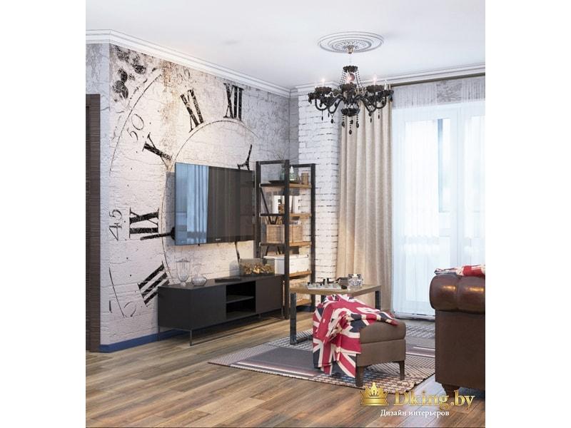 Декоративная стена с телевизором
