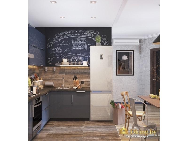 Стена на кухне с надписью