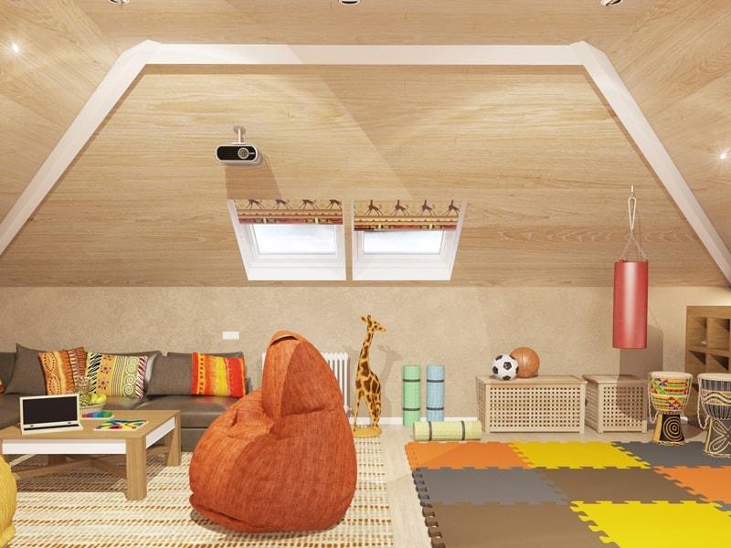 Детская комната на верхнем этаже