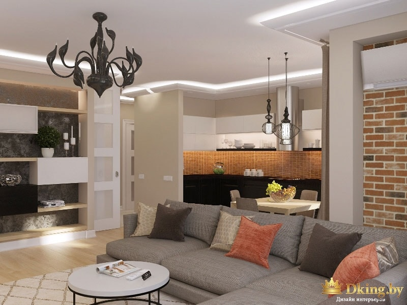варианты дизайна интерьера квартир на http://dking.by/