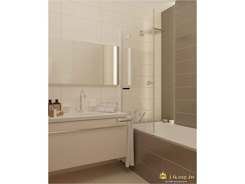Интерьер ванной комнаты: уммывальник, ванна