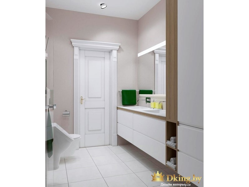 Белая дверь в ванную