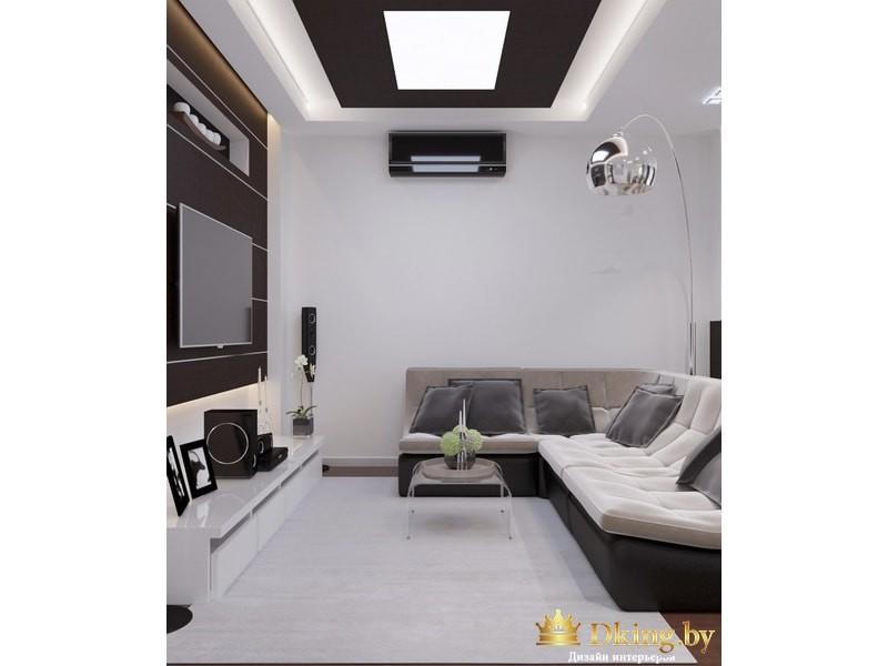 Гостиная с угловым дивано
