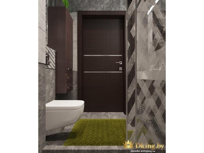 Травяной коврик в ванной комнате