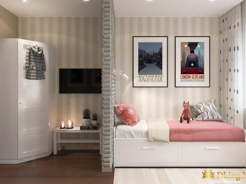 Аккуратная разовая спальня