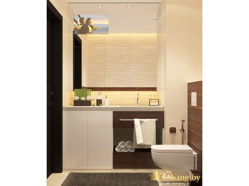 Функциональные полки в ванной комнате