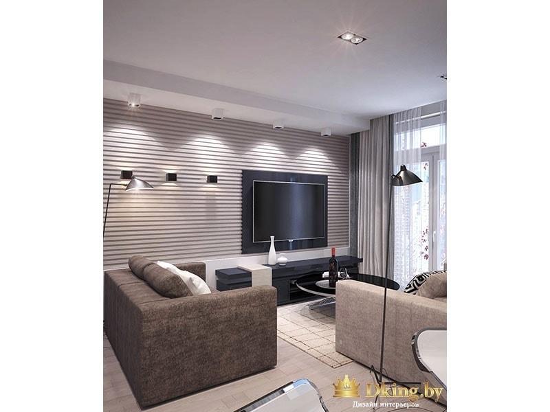 Большой телевизор в гостиной