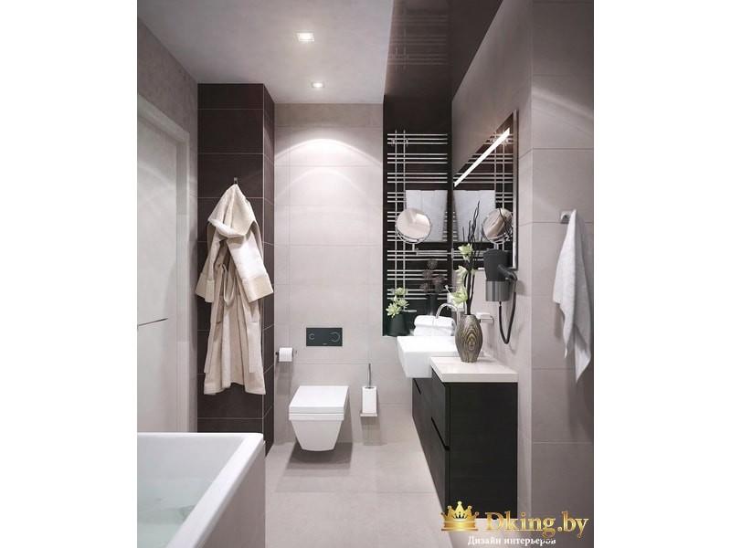 Черна-белая ванная комнат