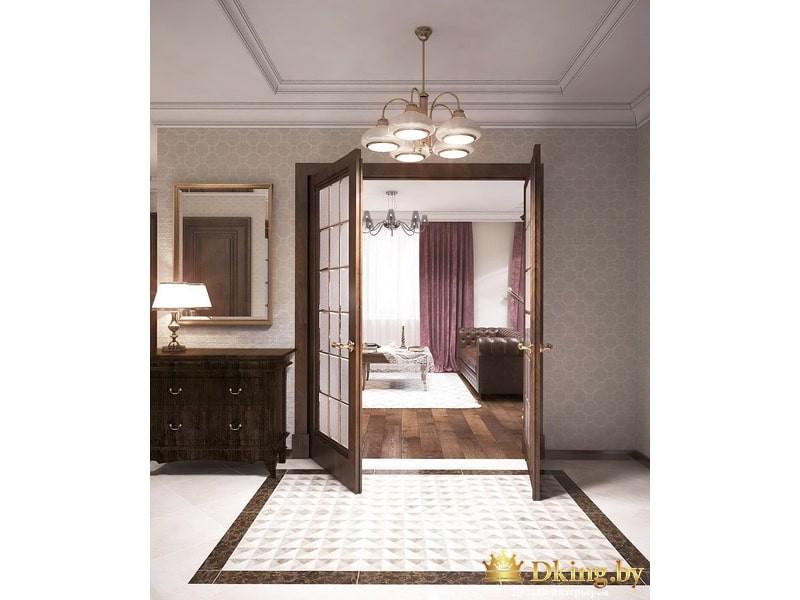Двойная дверь в гостину