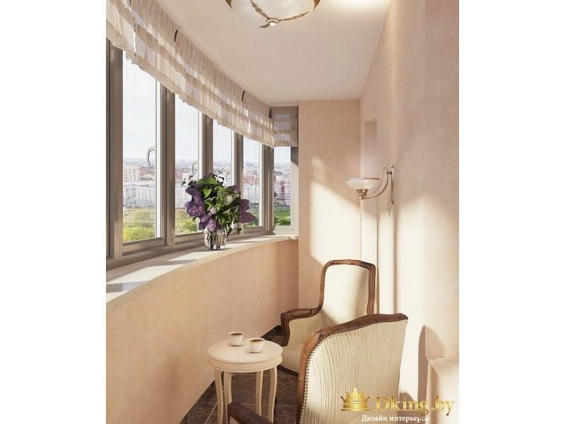 Закругленный балкон с креслом