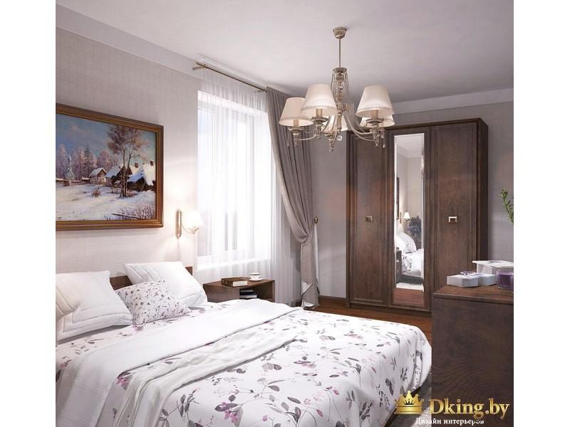 Кровать и большой гардеробный шкаф