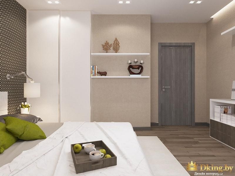 Две маленькие полки в спальне