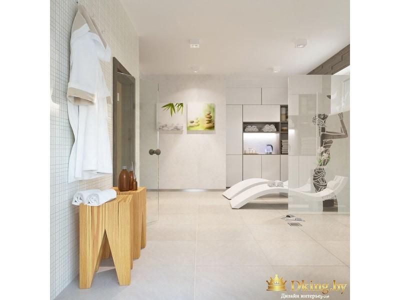 Просторная светлая ванная комната