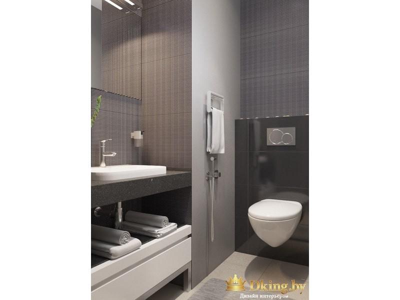 Ванная комната в серых цветах