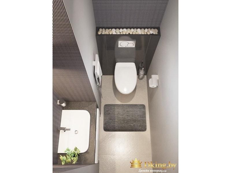 Унитаз и умывальник в ванной комнате