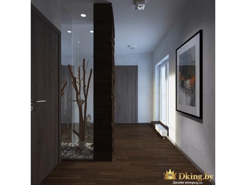 Декоративное дерево за стеклом