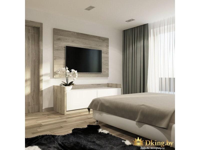 Телевизор на деревянной стене