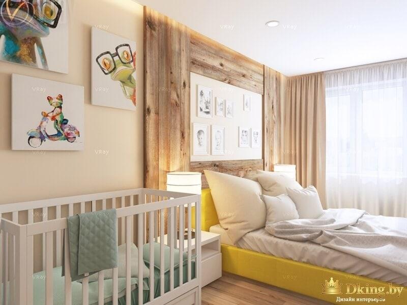 Детская кровать в деревянном интерьере