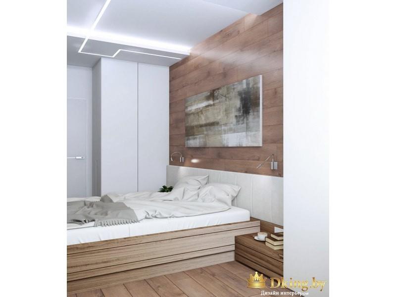 Деревянная стена с серой картиной