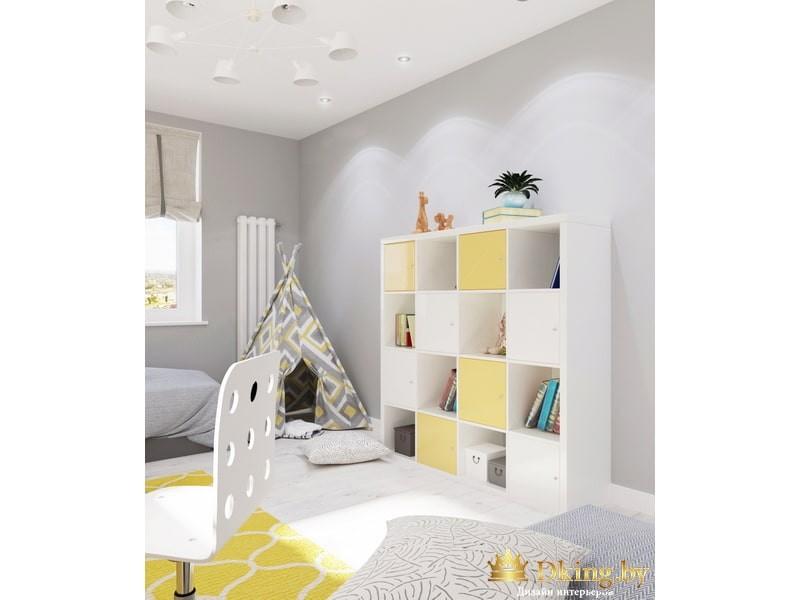 Детский шкаф с большим количеством полок