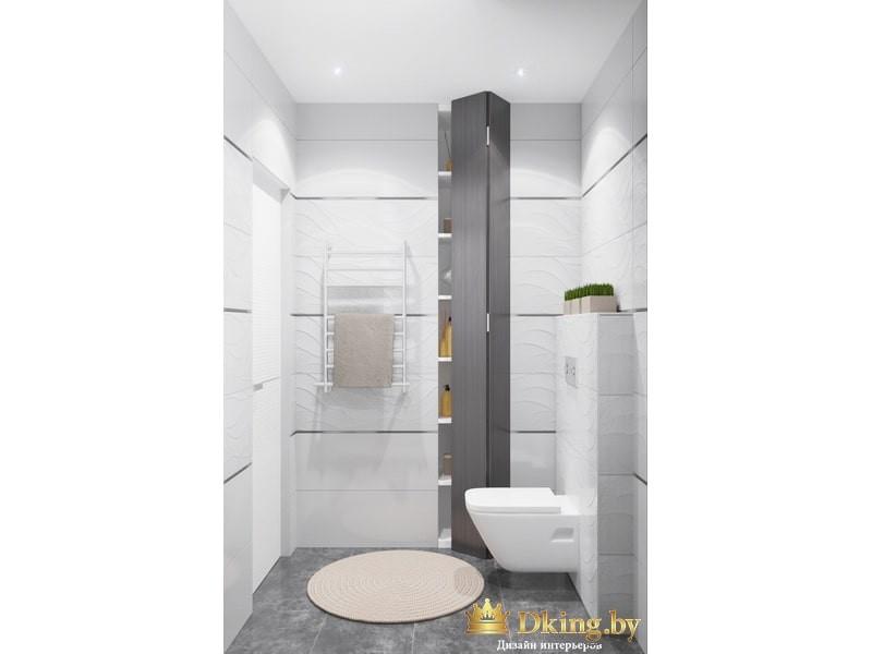 Светлая белая туалетная комната