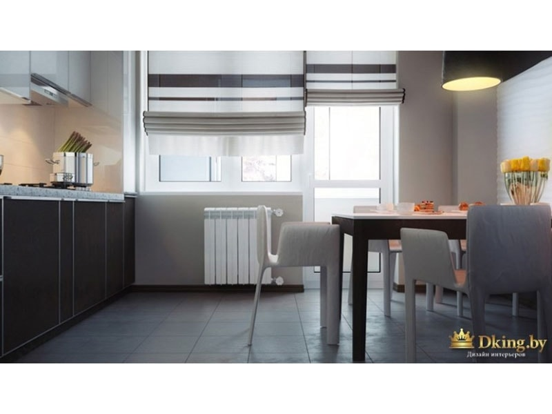 Кухня - просторная и светлая