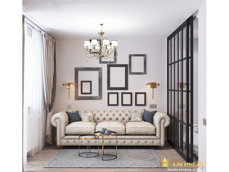 Дизайн квартиры, двухкомнатная