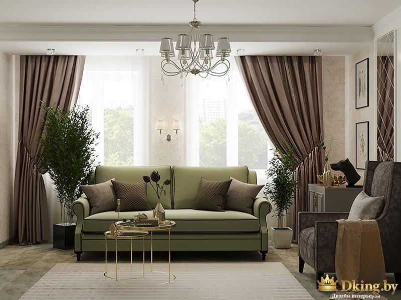 Дизайн квартиры, однокомнатная