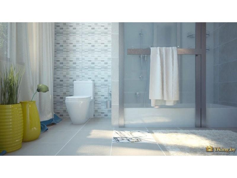 туалетная комната: вид на душевую кабину