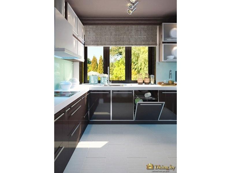 Кухня выдержанная в оттенках коричневого цвета