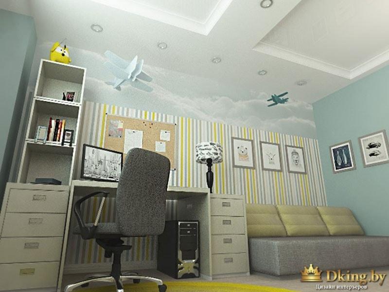 детская с трехместным диваном
