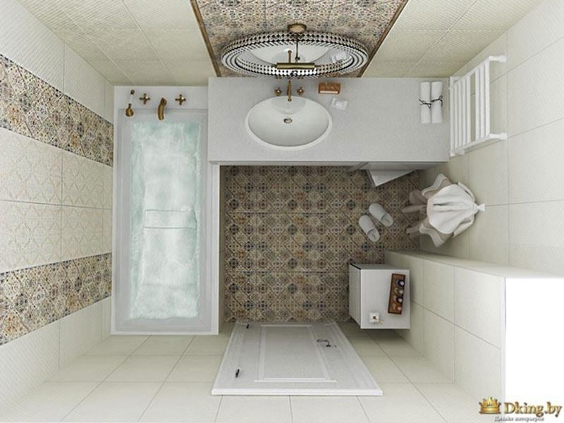 встроенные смесители в ванной, эргономичная планировка прямоугольной ванной