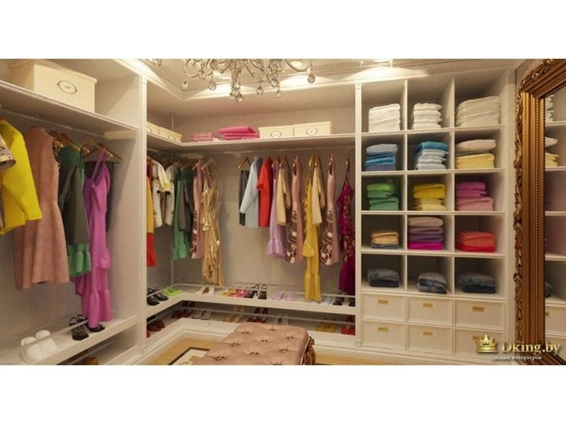 гардеробная: полки под обувь, полки для одежды, штанги, ящики и антресоли