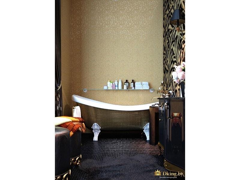ванна в ретро-стиле на фигурных ножках