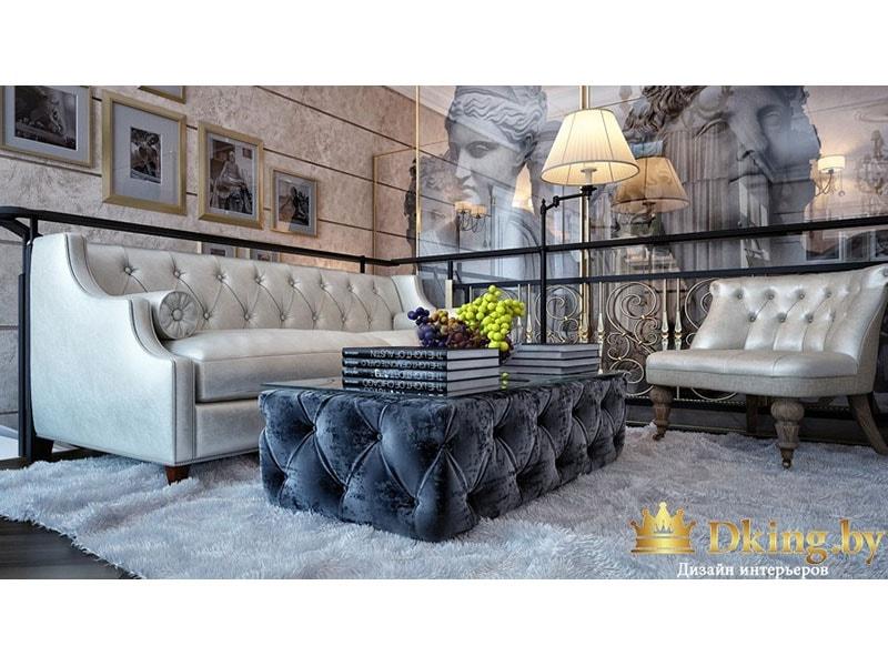 Белая кожаная мебель для отдыха