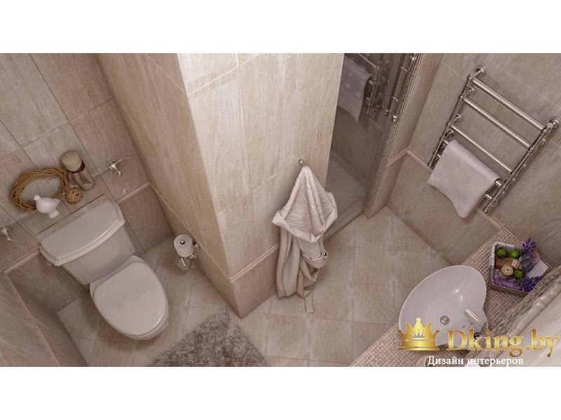 Ванная комната вид сверху