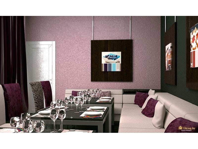 Столы в фиолетовых тонах