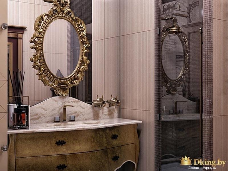 Овальное зеркало с позолотой