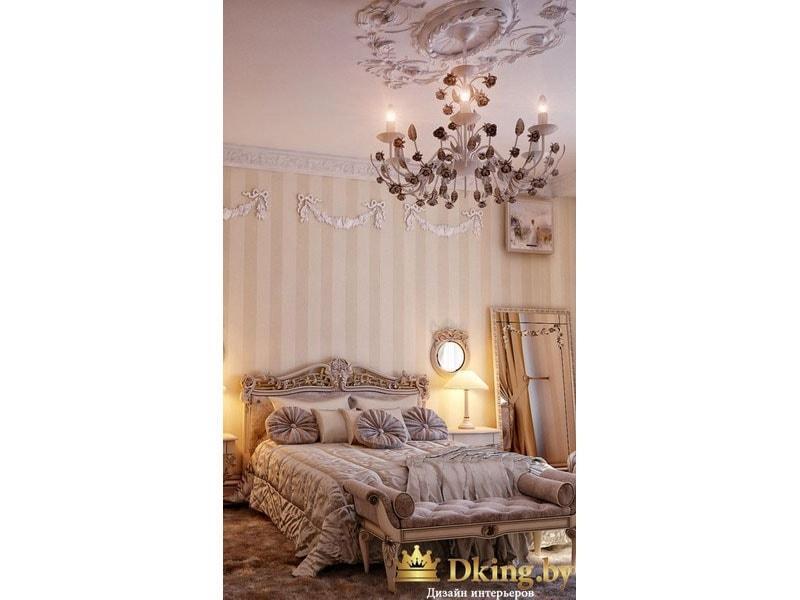 Большая люстра в спальне