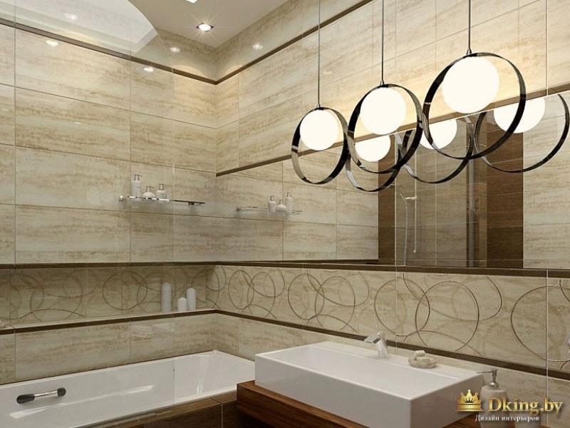 Дизайнерские светильники в ванной