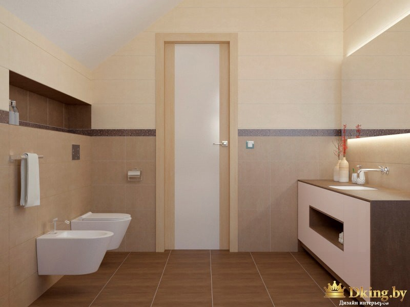Унитаз и биде в ванной комнате